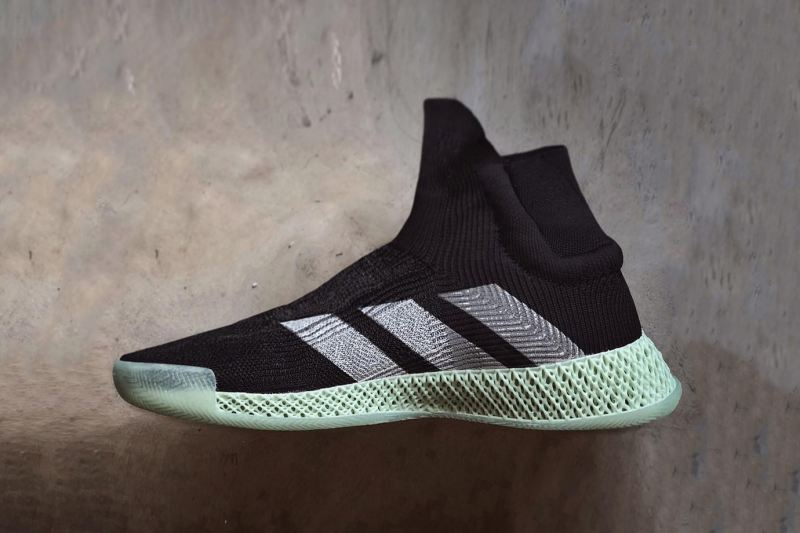 adidas 革新籃球鞋 FUTURECRAFT 4D Laceless Basketball 黑色版本曝光
