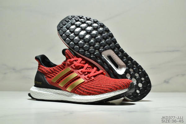 93fc14ed727bba5e934e837c1b69b6b6 - Adidas Ultra Boost Game of Thrones 爆米花系列 UB4.0 針織跑鞋 紅黑金