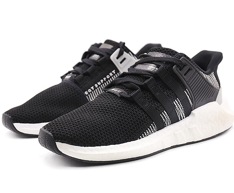 08bb49f4621f36cdda5f58c81578c03b - Adidas Originals EQT Boost Support 黑白噪音條紋 潮鞋跑步鞋 情侶鞋 BY9509