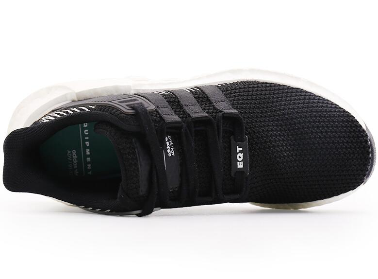 2ac38cb68ebb2c588f2ad54b96487294 - Adidas Originals EQT Boost Support 黑白噪音條紋 潮鞋跑步鞋 情侶鞋 BY9509