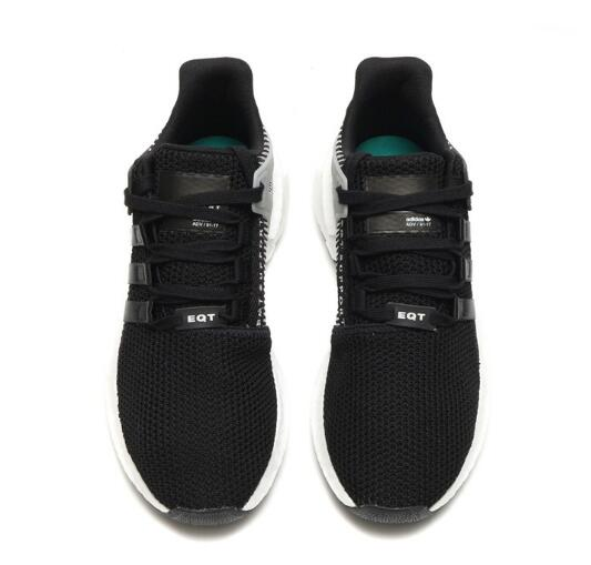 e2b608688d56643bc9d90cac1a79a646 - Adidas Originals EQT Boost Support 黑白噪音條紋 潮鞋跑步鞋 情侶鞋 BY9509