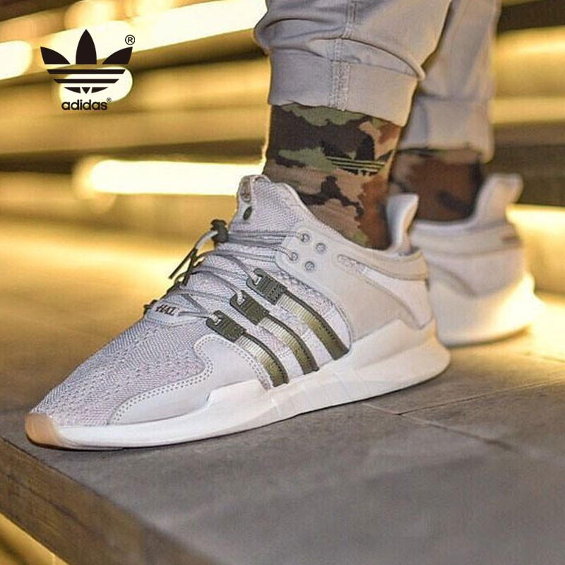 Adidas X HIGHS AND LOWS EQT Support ADV 限量聯名跑鞋 高端支線 白色 綠條 男鞋 CM7873