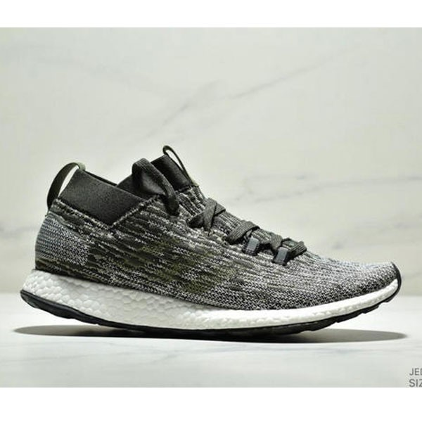 Adidas Pure BOOST Element 2019爆米花跑鞋 灰黑