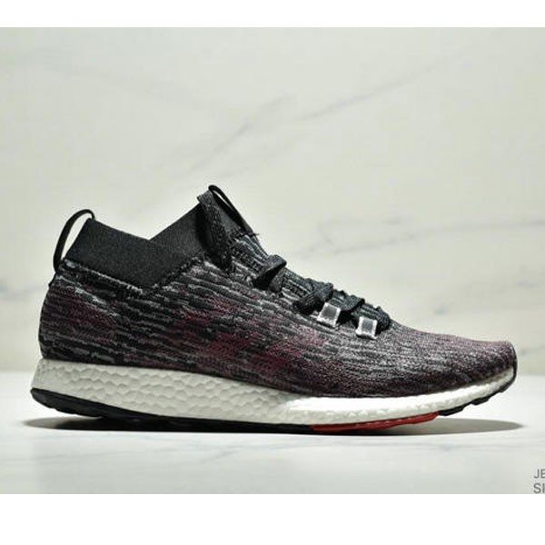Adidas Pure BOOST Element 2019爆米花跑鞋 黑紅